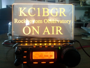 KC1BGR at Rockbottom Observatory is on the air!